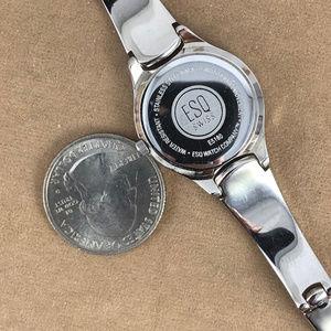 Movado Accessories - Vintage ESQ Movado Swiss Black on Silver Watch